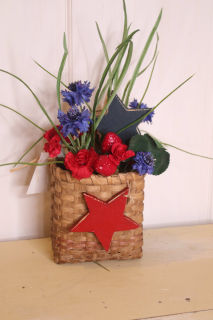 Patriotic Basket of silk flowers
