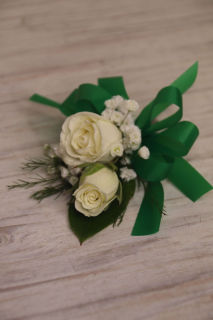 Simple white corsage