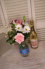 Sweet flowers and wine