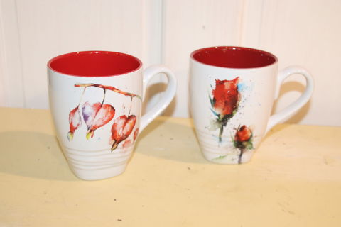 coffee mug with flowers