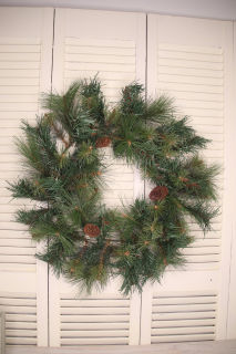 Undecorated artificial wreath