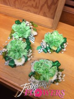 St Patricks Day corsage