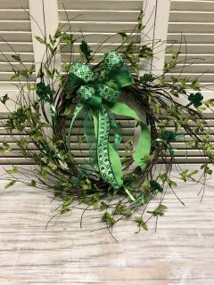 St Pats door wreath