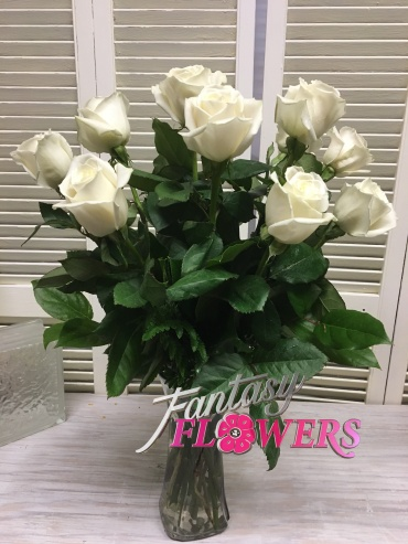 First love white roses