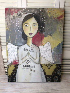 Hope  and Healing  Kelly Rae Plaque