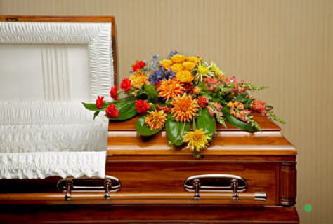 Graceful fall Garden Casket Spray